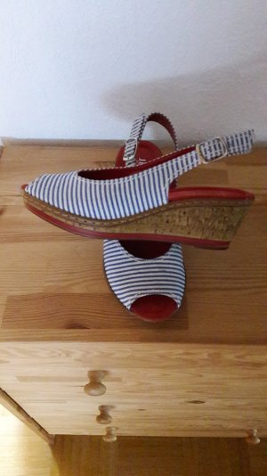 Wedges Sandaletten/gestreift