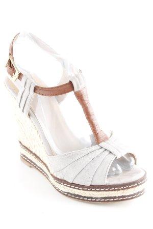 Wedge Sandals grey-brown beach look
