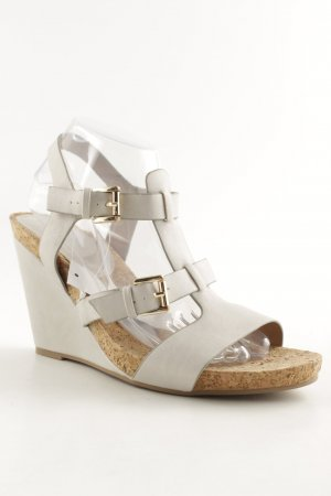 Wedge Sandals light grey-light brown simple style