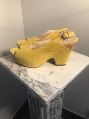 Platform High-Heeled Sandal yellow