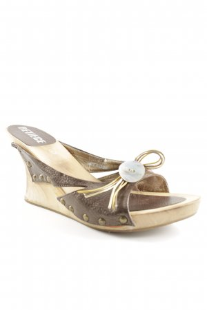 Wedge Sandals sand brown-dark brown extravagant style