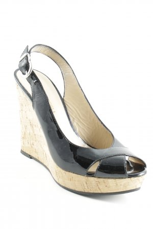 Wedges Sandaletten schwarz Beach-Look