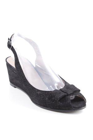 Wedges Sandaletten schwarz Elegant