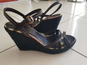 Burberry Wedge Sandals multicolored leather