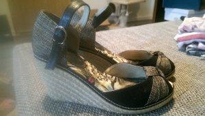 High-Heeled Sandals black-grey