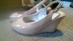 Wedges, Sommerschuhe in nude/rosa