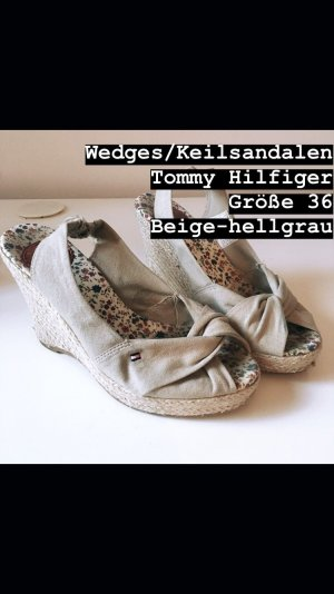 Tommy Hilfiger Wedge Sandals camel-grey brown
