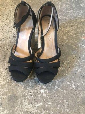 Aldo Espadrille sandalen zwart
