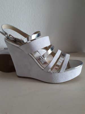Blink Wedge Sandals silver-colored-grey