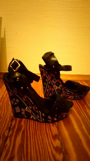 Buffalo Wedge Sandals multicolored