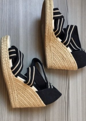H&M Wedge Sandals black-cream