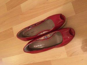 Wedges von Tamaris in rot, 37