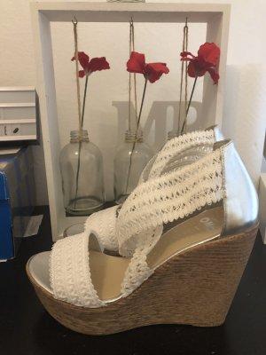Platform Sandals white-beige