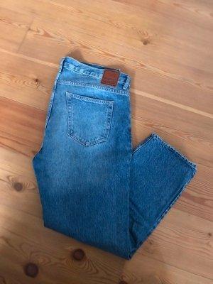 Weekday Jeans boyfriend bleu azur