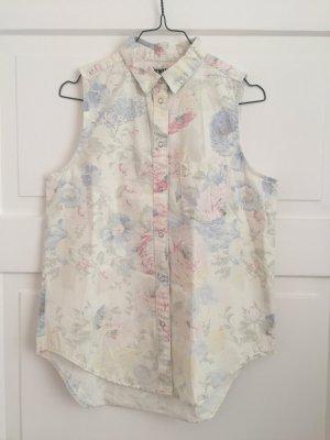 Weekday Bluse Hemd Schulterfrei Oberteil Top NEU Blumen Floral Shirt Blumenmuste
