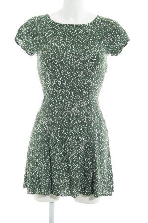 Weekday Blusenkleid waldgrün-wollweiß Farbtupfermuster Casual-Look