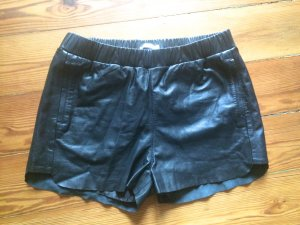 Weekday Collection Shorts Echtleder Gr.M (38/40) oversize Leder schwarz Hotpants