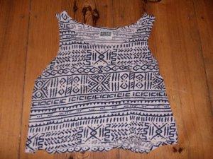 Weekday croped Shirt Top aztek hippie