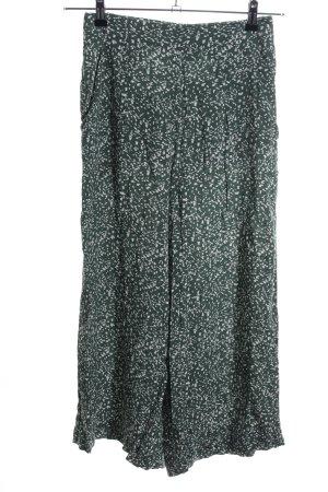 Weekday Pantalone culotte verde-bianco stampa integrale stile casual