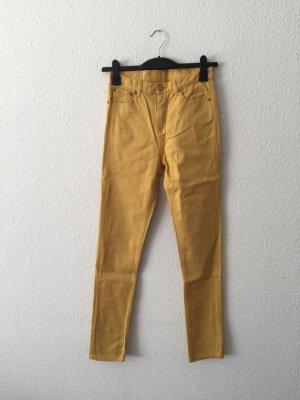 Weekday gelbe high-waist Jeans W27 L32