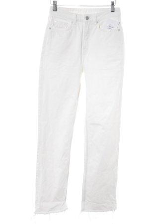 Weekday High Waist Jeans weiß Webmuster Casual-Look