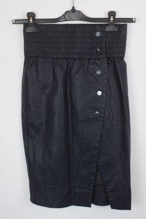 MTWTFSSWEEKDAY Jupe en cuir synthétique bleu foncé faux cuir