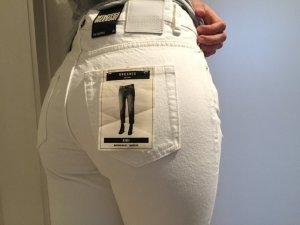 Weekday Jeans Röhre Karotte cropped weiß Used Look neu!!