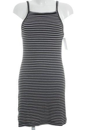 Weekday Jerseykleid schwarz-weiß Streifenmuster Casual-Look