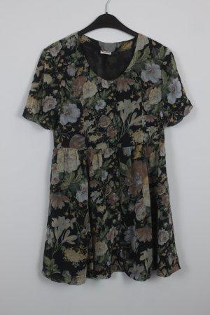 Weekday Kleid Gr. S schwarz mit Blumenmuster (18/7/185)