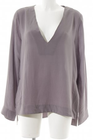 Weekday Langarm-Bluse graulila schlichter Stil