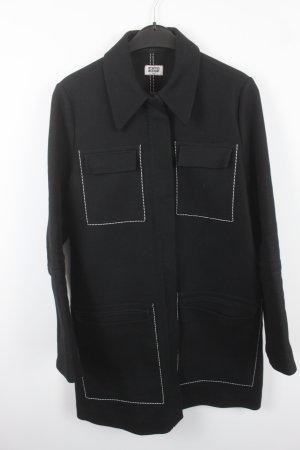 Weekday Manteau d'hiver noir-blanc coton