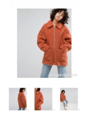 Weekday Oversized Coat multicolored
