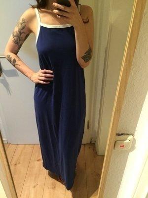 Weekday Maxi Kleid blau weiß GR. 38/M
