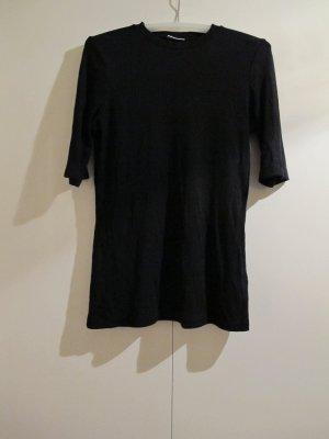 WEEKDAY Oberteil Top Shirt Rippshirt M schwarz