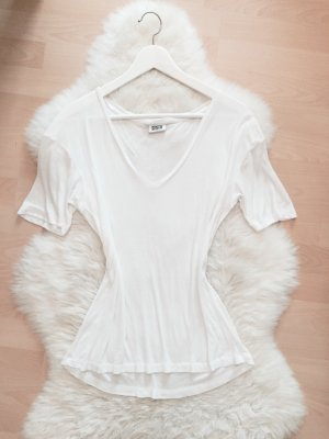 Weekday Oversize T-Shirt Blogger Shirt V-Ausschnitt Gr.S