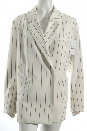Weekday Oversized Jacke hellbeige-schwarz Streifenmuster Street-Fashion-Look