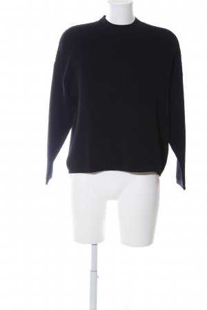 Weekday Oversized Pullover schwarz Casual-Look