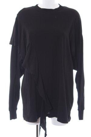 Weekday Oversized Pullover schwarz Casual-Look