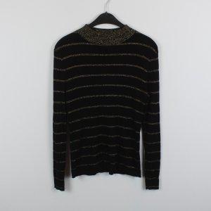 WEEKDAY Pullover Gr. S schwarz goldene Streifen (18/10/242)