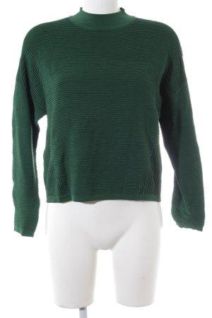 Weekday Rundhalspullover grün Casual-Look