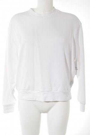 Weekday Jersey de cuello redondo blanco look casual