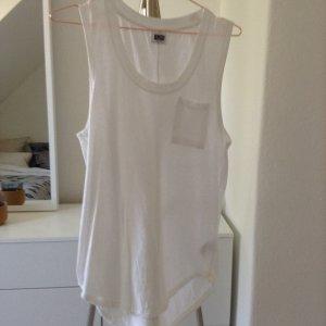 Weekday Shirt white mit Brusttasche