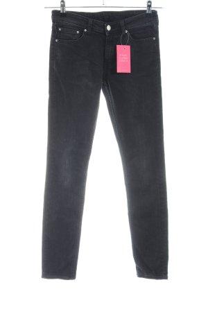 Weekday Slim Jeans schwarz Casual-Look