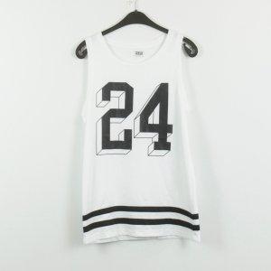 MTWTFSSWEEKDAY Débardeur noir-blanc polyester