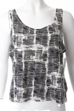 Weekday Tanktop schwarz-weiß grafisches Muster