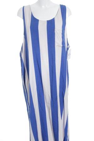 Weekday Trägerkleid blau-rosé Streifenmuster Street-Fashion-Look