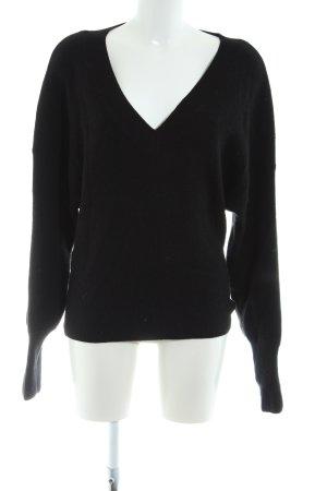 Weekday Wollpullover schwarz Casual-Look