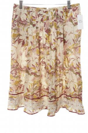 Weekend Max Mara Plaid Skirt floral pattern romantic style