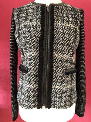 Weekend Max Mara Blazer in lana nero-bianco