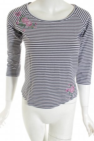 Weekend Max Mara Shirt weiß-dunkelblau Streifenmuster Casual-Look